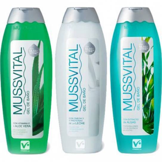 MUSSVITAL PACK 3 GEL LECHE,ALGAS, ALOE