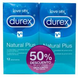 DUREX DUPLO NATURAL PLUS 12 UDS