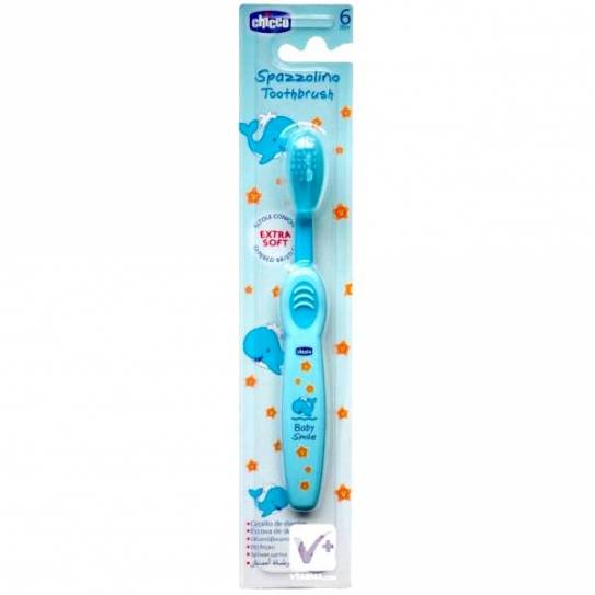 CHICCO CEPILLO DENTAL AZUL 6M+