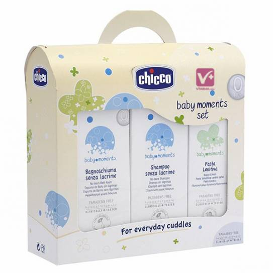 CHICCO SET BABY MOMENTS ESPUMA + CHAMPU + PASTA