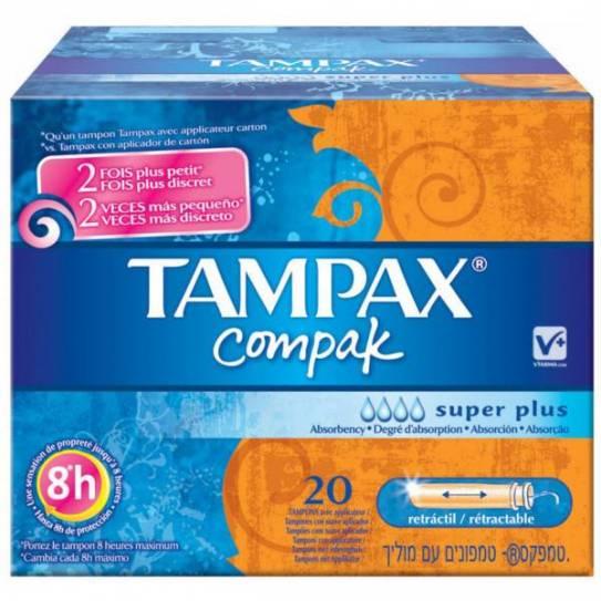 TAMPAX COMPAK SUPER PLUS 20 UDS