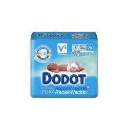 DODOT PAÑAL PRIMERAS SEMANAS DE 0-3 KG 20 UDS