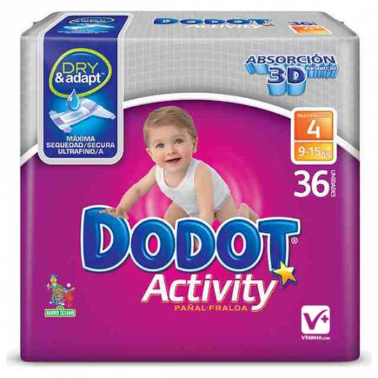DODOT PAÑAL ACTIVITY PLUS T/4 9-15 KG 36 UNIDS