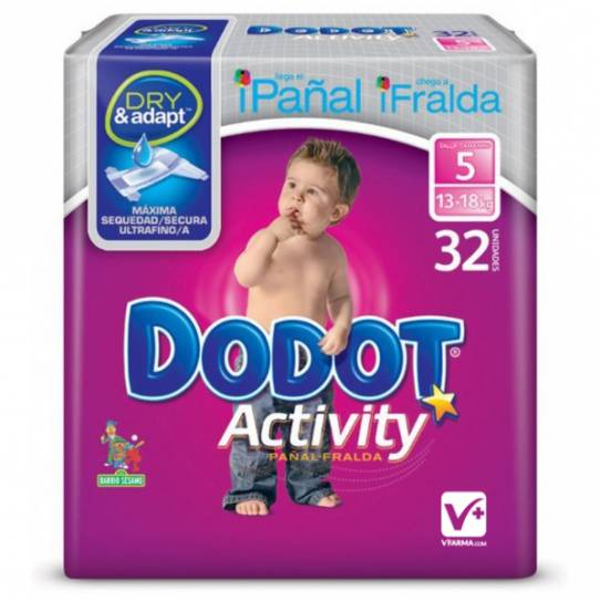 DODOT PAÑAL ACTIVITY PLUS T/5 13-18 KG 32 UDS