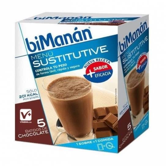 BIMANAN BATIDO DE CHOCOLATE 50GR X 5 UDS