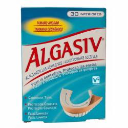ALGASIV ALMOHADILLAS DENTADURA INFERIOR 30 UDS