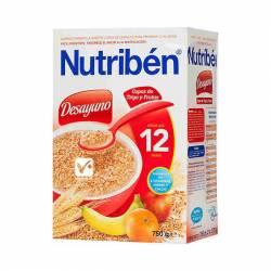 NUTRIBEN DESAYUNO COPOS DE TRIGO CON FRUTAS 750