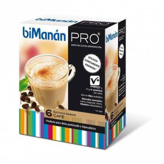 BIMANAN PRO BATIDO CAFE DIETA 6 UDS