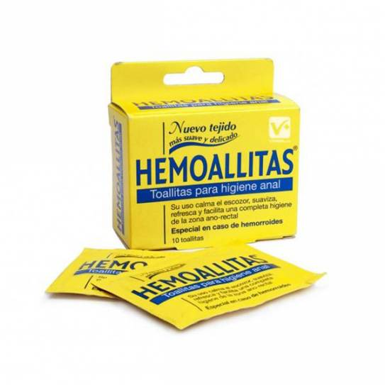 HEMOALLITAS TOALLITAS 10 UNID
