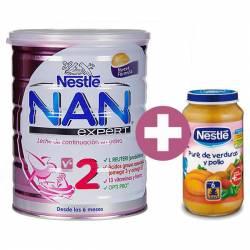Nan 2 Expert 800 Gr Leche Infantil 6m + Potito N