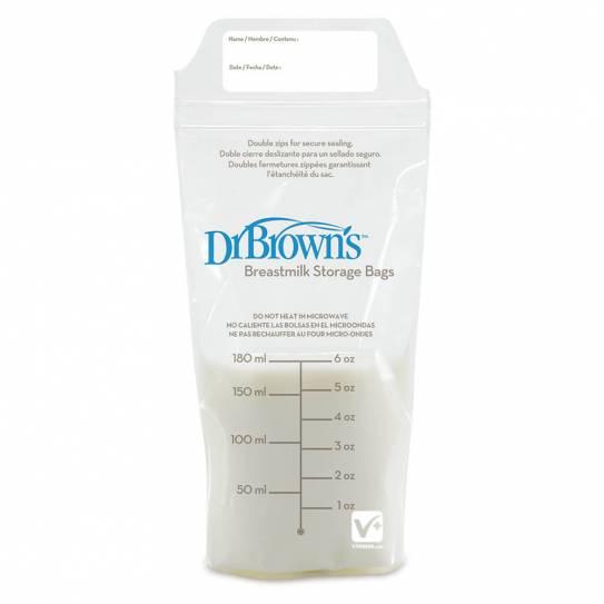 DR BROWN'S BOLSAS DE LECHE MATERNA 25 UNDS