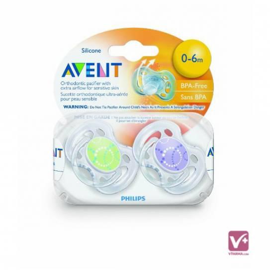 AVENT CHUPETES VENTILADO 0-6 MESES BPA O%