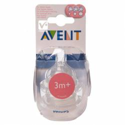 AVENT TETINA SILICONA FLUJO VARIABLE +3