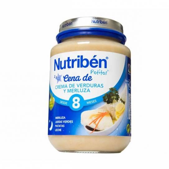 NUTRIBEN CENA CREMA VERDURA CON MERLUZA 200 GR
