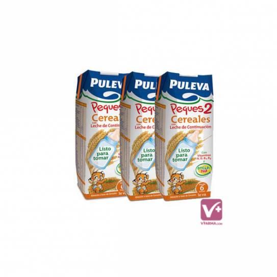 PULEVA PEQUES 2 CON CEREALES 3 X 250 ML