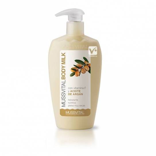 MUSSVITAL BODY MILK CON ACEITE DE ARGAN 300ML