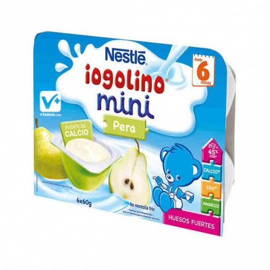Nestle Iogolino pera mini 60 grs 6 uds tarrinas