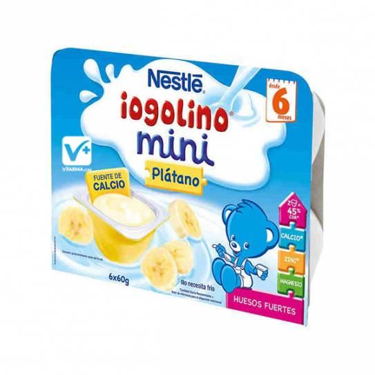 Nestle Iogolino plátano mini 60 gr 6 uds