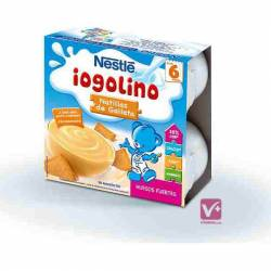 NESTLE IOGOLINO NATILLAS DE GALLETA 100 GR 4 UDS