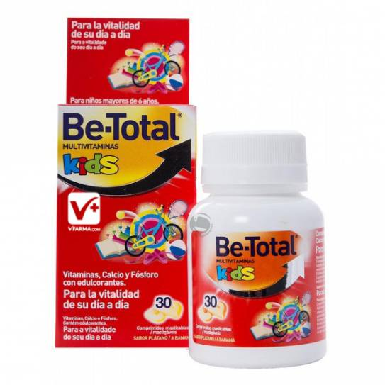 BE TOTAL MULTIVITAMINAS KIDS COMP MASTICABLES 30