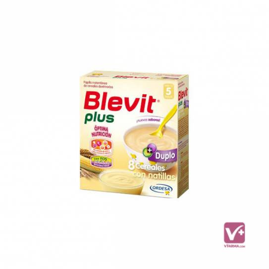 BLEVIT PLUS DUPLO 8 CEREALES CON NATILLAS 600 GR