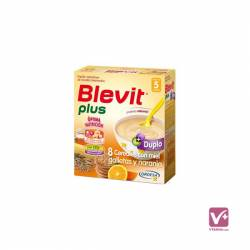 BLEVIT PLUS DUPLO 8 CEREALES MIEL GALLETA NARANJ