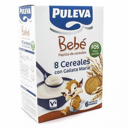 Puleva Bebé Papilla 8 Cereales con Galleta María