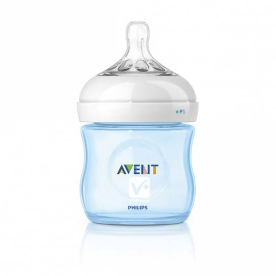 AVENT BIBERON PP NATURAL AZUL 125 ML