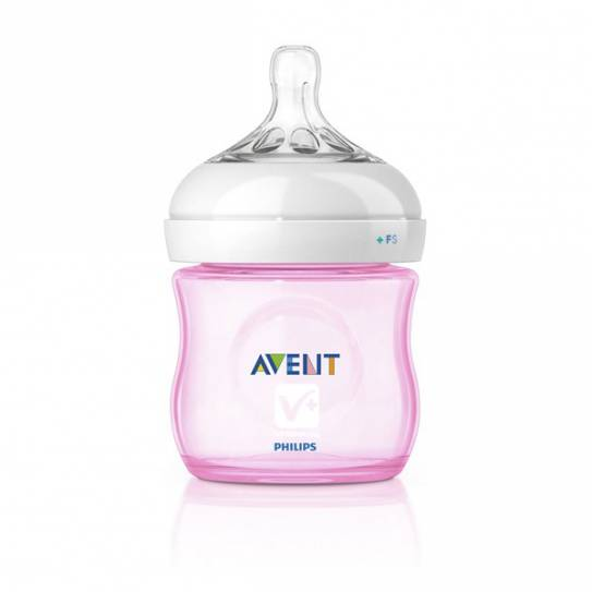 AVENT BIBERON PP NATURAL ROSA 125 ML