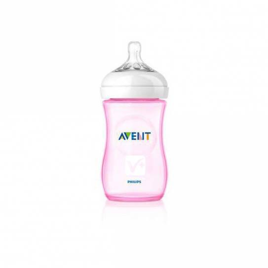 AVENT BIBERON PP NATURAL ROSA 260 ML