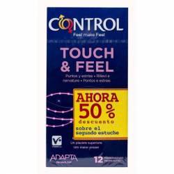 CONTROL TOUCH & FEEL PRESERVATIVOS 12 U (2 50%)