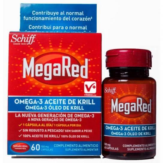 Megared 500 60 cápsulas Omega 3 Aceite de Krill