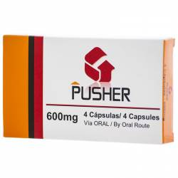 PUSHER 600MG 4 CAPSULAS