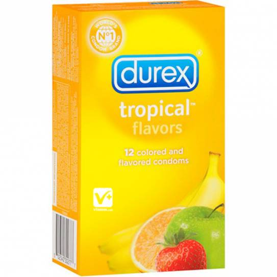 DUREX TROPICAL PLEASURE FRUITS 12 UDS