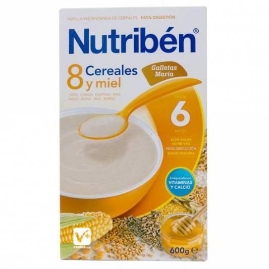 NUTRIBEN 8 CEREALES Y MIEL GALLETAS MARIA 300 GR
