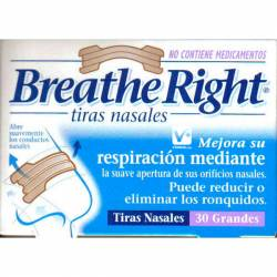 BREATHE RIGHT TIRA NASAL CLASICAS PEQUEÑAS 30 UD