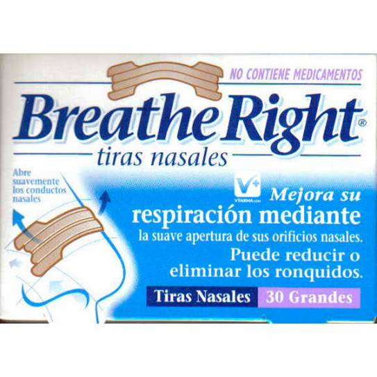 BREATHE RIGHT TIRA NASAL CLASICAS PEQUEÑAS 30 UD