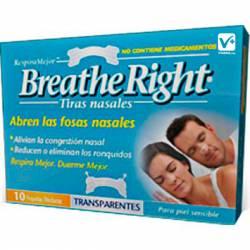 BREATHE TIRAS NASALES TRANSPARENTES GRANDES 10 U