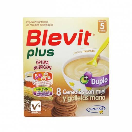BLEVIT PLUS DUPLO 8 CEREALES MIEL GALLETAS 600 G