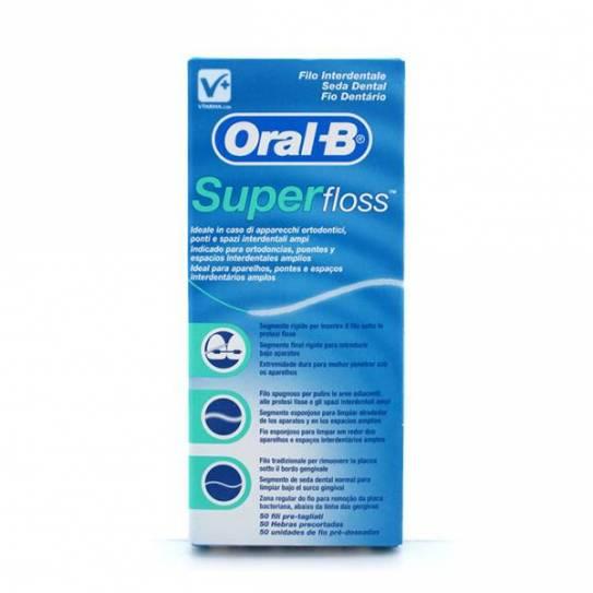 ORAL-B SUPERFLOSS 50UNIDADES