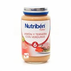 Nutriben jamón ternera verduras 250 gr
