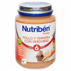NUTRIBEN POLLO TERNERA VERDURAS 200 GR