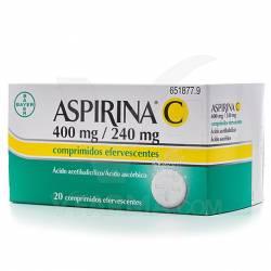 ASPIRINA C EFERVESCENTE 20 COMPRIMIDOS