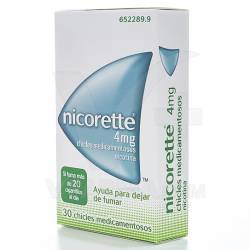 NICORETTE 4 MG. 30 CHICLES