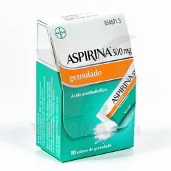 ASPIRINA 500MG GRANULADO 10 SOBRES
