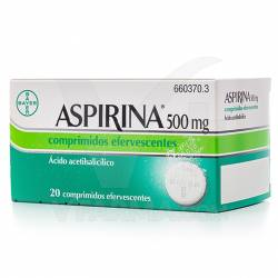 ASPIRINA EFERVESCENTE 500MG 20 COMP