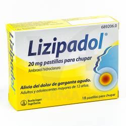LIZIPADOL 20 MG 20 COMPRIMIDOS PARA CHUPAR
