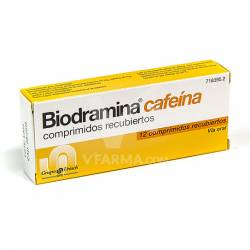 BIODRAMINA CAFEINA 12 GRAGEAS
