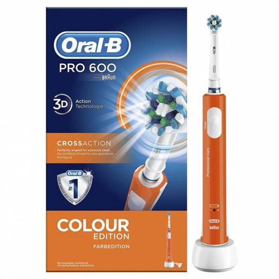 Oral-b PRO 600 cepillo dental eléctrico naranja
