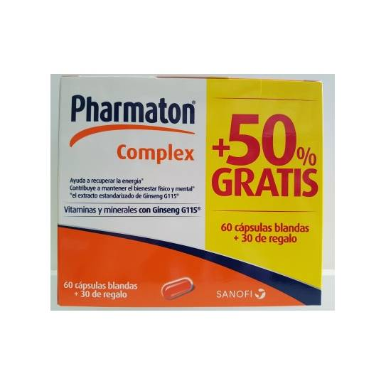PHARMATON COMPLEX 60+30 CAPSULAS